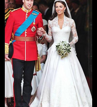 Kate Middleton in Alexander McQueen dress on her wedding