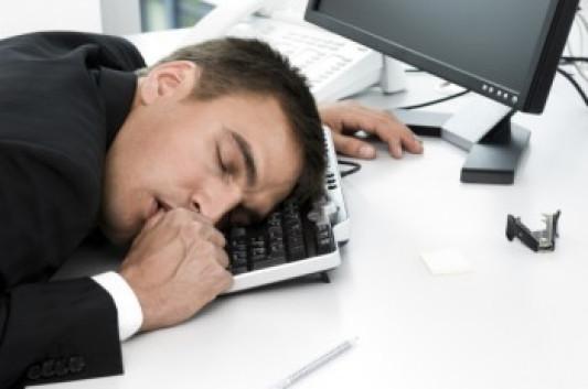 Banker sleeping