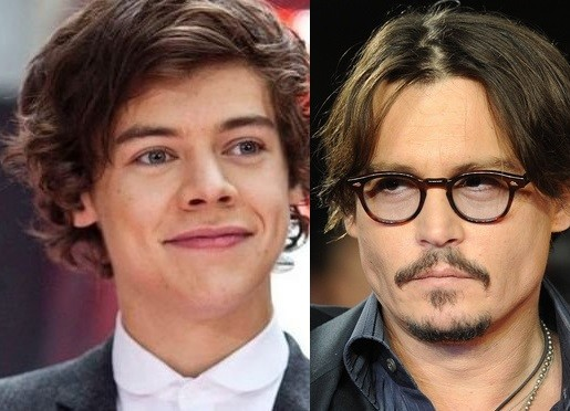 Harry Styles and Johnny Depp