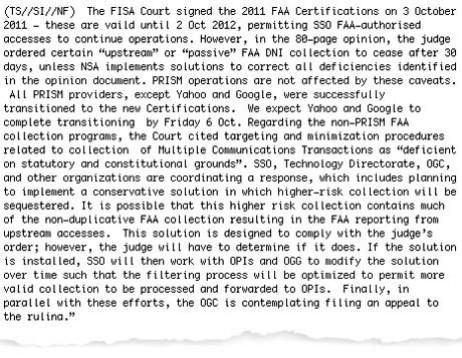 NSA newsletter