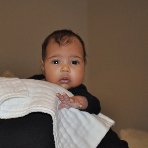 North West Finally Unveiled to the World/Twitter/KrisJenner