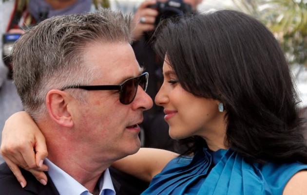 Alec Baldwin with his wife Hilaria Thomas