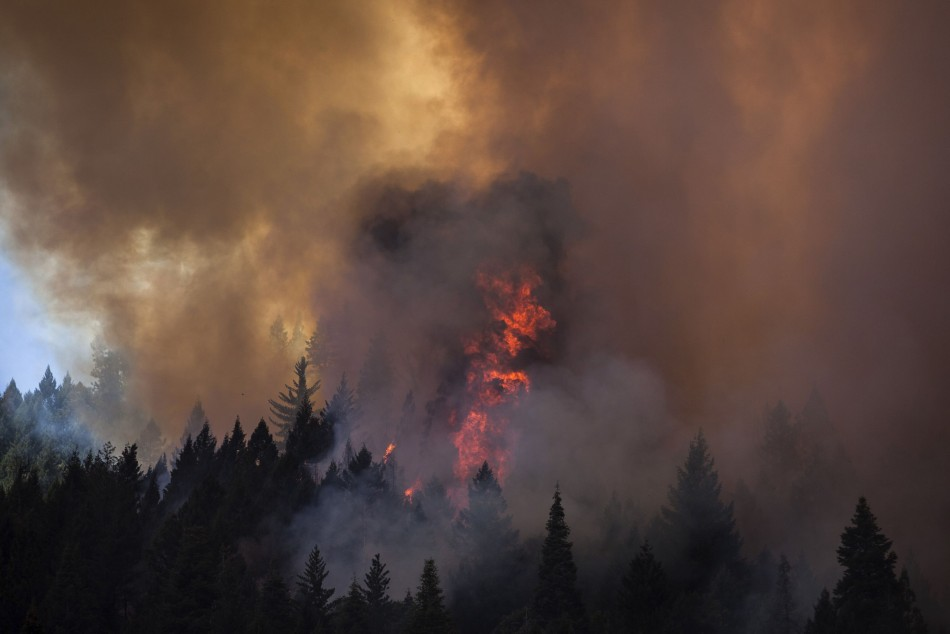 The continued activity of Rim Fire has raised safety concerns for firefighters adjacent to the fire's edge. (Photo: Reuters)