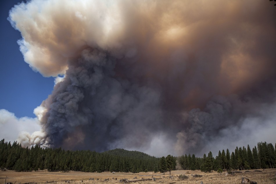 The Rim Fire continues to grow out of control near Yosemite National Park, California, prompting evacuation advisories in nearby areas and forcing tourists to flee. (Photo: Reuters)