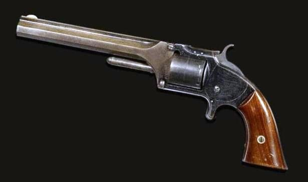 The gunslinger's revolver has a 6-inch barrel and varnished rosewood grips (www.outdoorchannel.com)