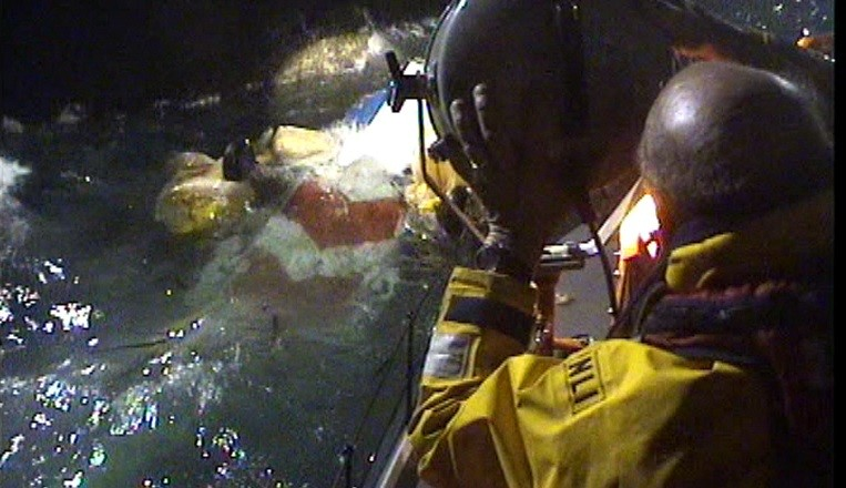 RNLI helicopter search