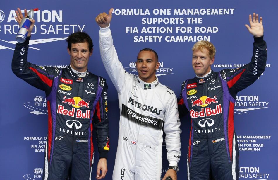 Lewis Hamilton will begin the Belgian Grand Prix on pole