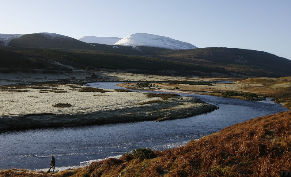 The opening day of the Salmon fishing season on the river Helmsdale in Sutherland, Scotland. (Reuters)