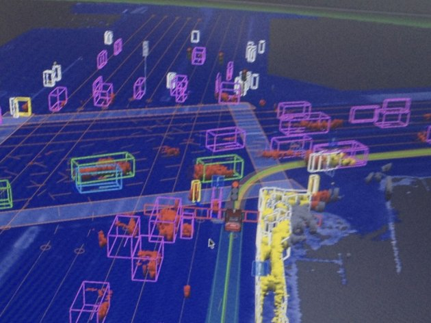 Vehicles shows what the Google self-driven car sees while navigating Las Vegas roads PIC: Reuters