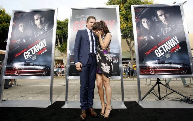 The star-pair is said to have an onscreen compatibility, though it was quite visible at the premiere of Getaway too. (Reuters)