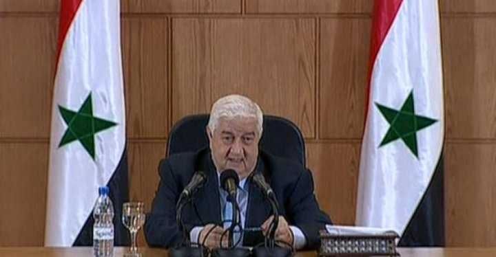 Syria's Foreign ministry Walid al-Moallem