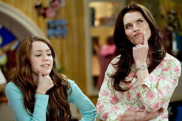 Miley Cyrus and Brooke Shields