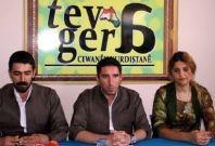 Kurdistan Youth Movement Association founders Serhat Mérdînî (left), Roger Çager and Basra Şık