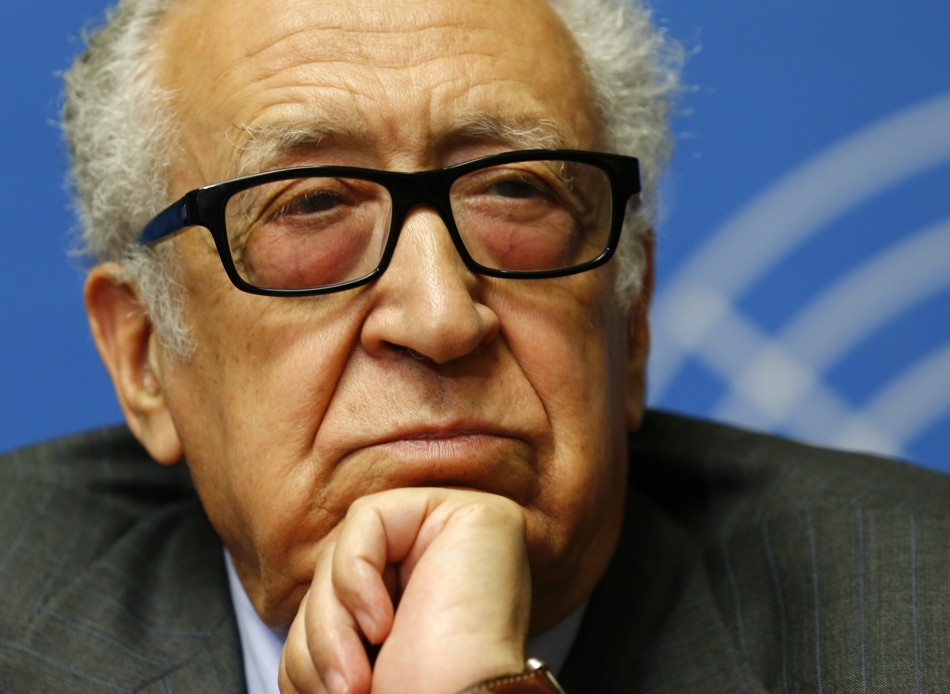 Arab League-United Nations envoy Lakhdar Brahimi