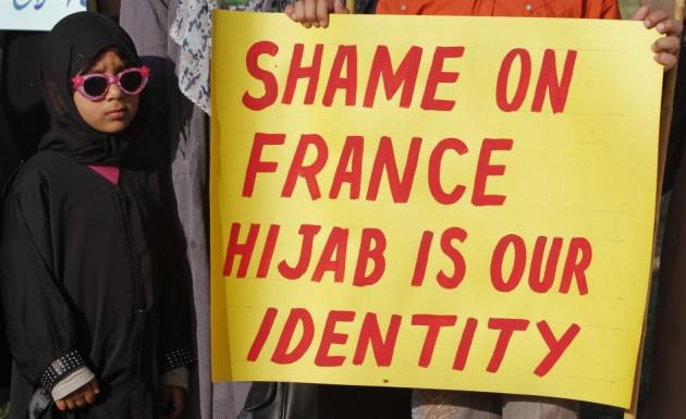 Paris Veil Protests