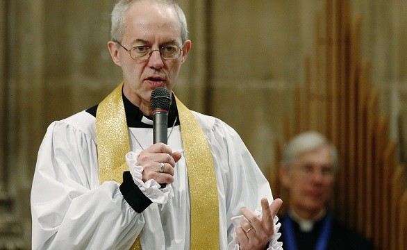 Most Rev Justin Welby was speaking to a group of born-again Christians in London (Reuters)