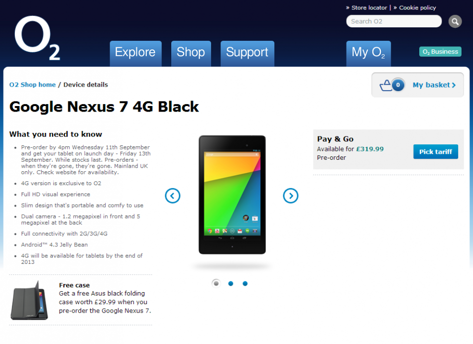 New Nexus 7 Now Available in UK