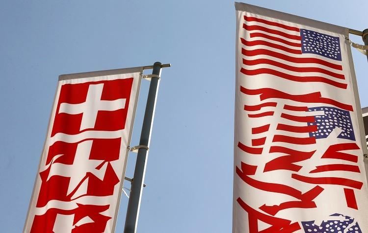 Swiss US flags