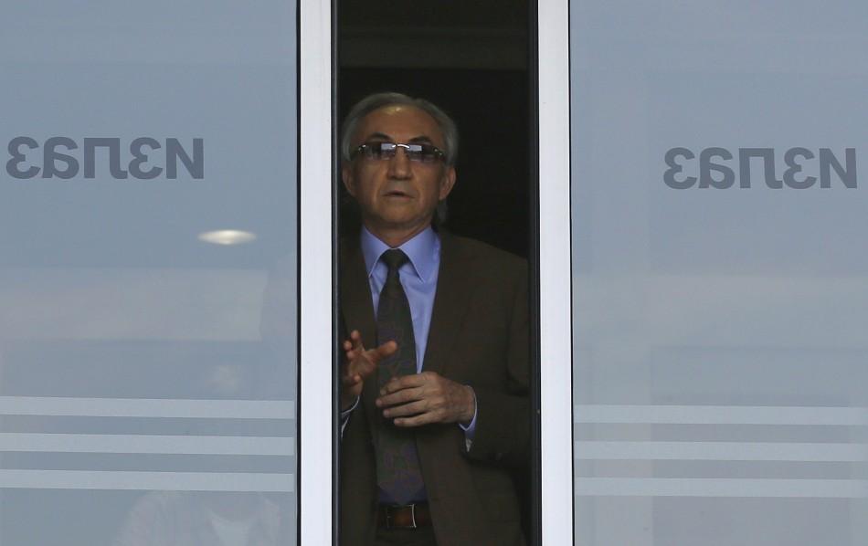 Miroslav Miskovic, Serbian billionaire retail tycoon, leaves the Special Court in Belgrade