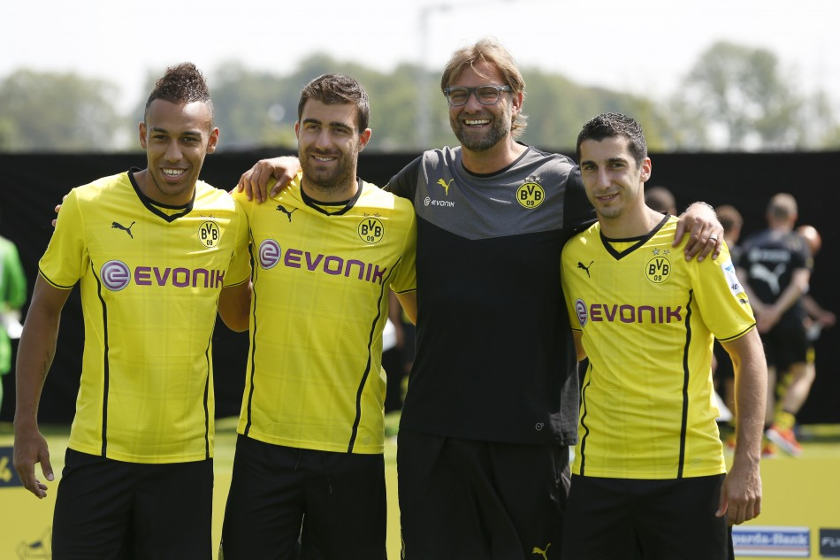 Henrikh Mkhitaryan and Pierre-Emerick Aubameyang