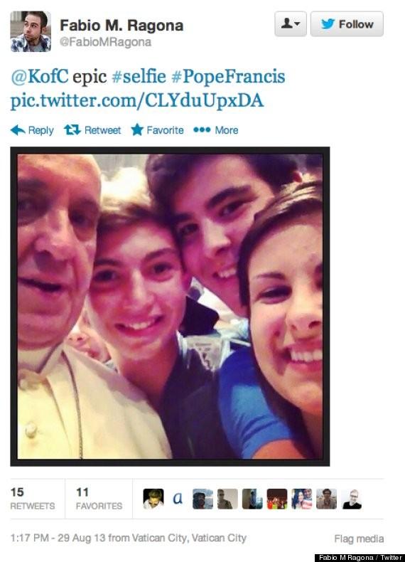 Fabio Ragona posted the selfie on his Facebook page. (Fabio M. Ragona)
