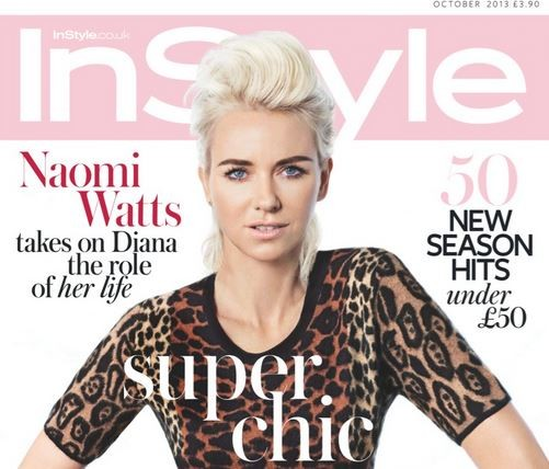 Naomi Watts talked about her concerns on playing the late Princess Diana in the latest issue of UK Instyle magazine.