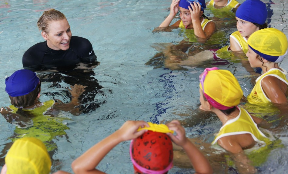 The aim of her foundation is to reinforcing the awareness of water safety among children. (REUTERS/Regis Duvignau)