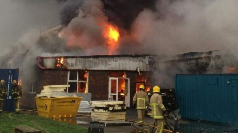 125 firefighters and 20 engines were used to tackle the blaze (Lancashire Fire and Rescue Service)