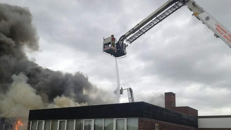 The school was due to reopen for the new term tomorrow (Lancashire Fire and Rescue Service)