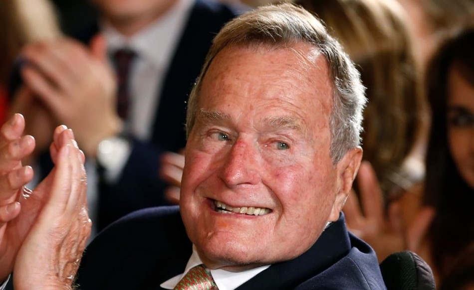Former United States president George H.W. Bush mistakenly announced the death of former South African President Nelson Mandela.