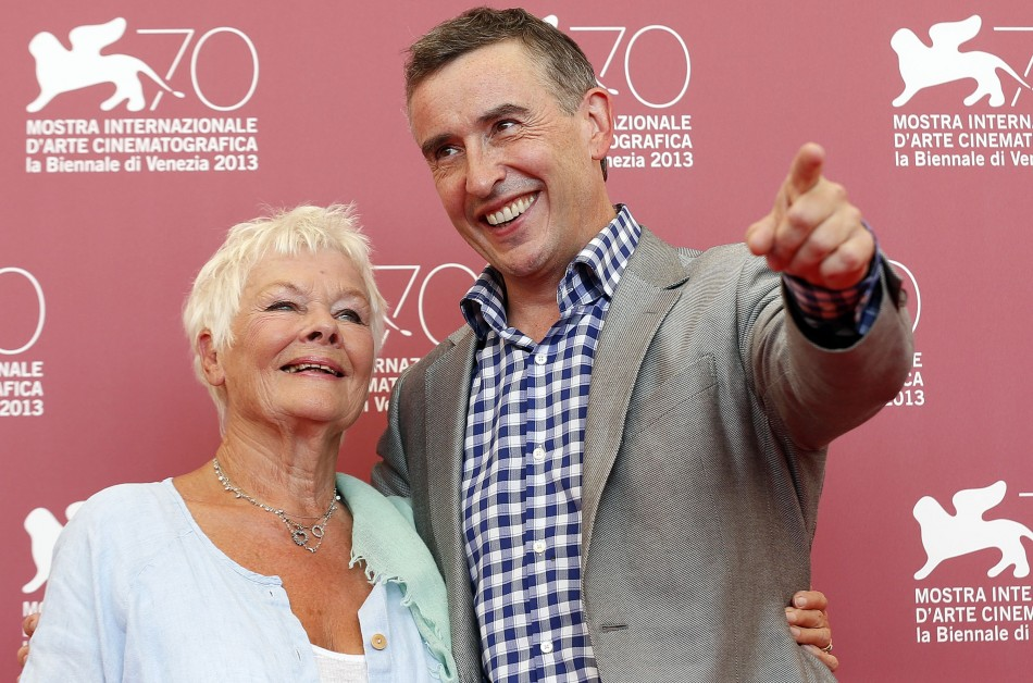 Actors Judi Dench and Steve Coogan pose during a photocall for the movie Philomena. (REUTERS/Alessandro Bianchi)
