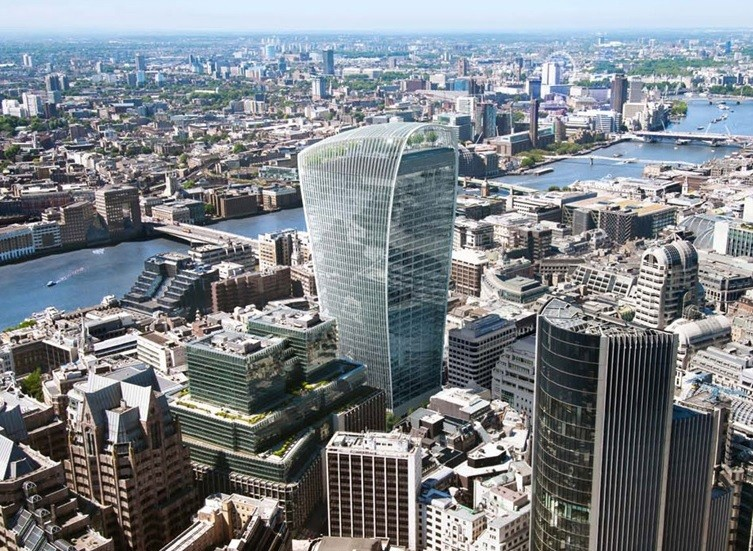 20 Fenchurch Street tower is 'melting cars' in central London PIC: Land Securities and Canary Wharf Group