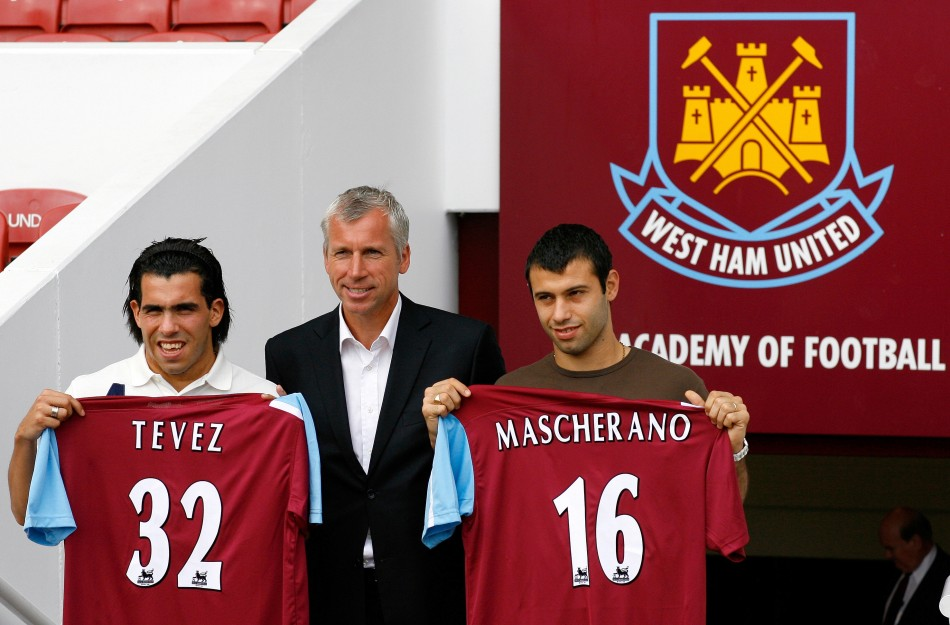 Carlos Tevez and Javier Mascherano from Boca Juniors to West Ham United