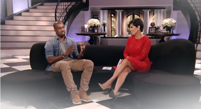 Kayne West and Kris Jenner Image - YouTube/Kris Jenner Show