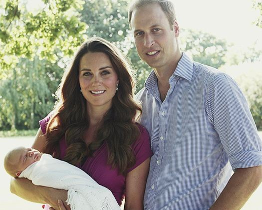 The Duke and Duchess of Cambridge with their son Prince George of Cambridge. (Photo: Clarence House)