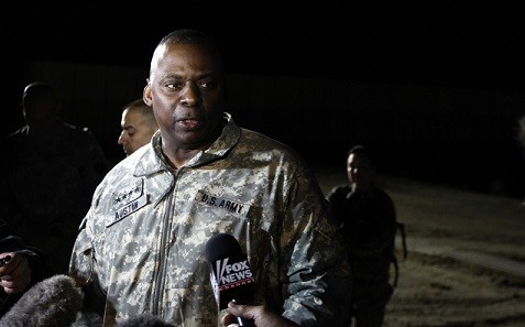Central Command, headed by General Lloyd Austin, has stopped discussing Syria action with Britain (Reuters)