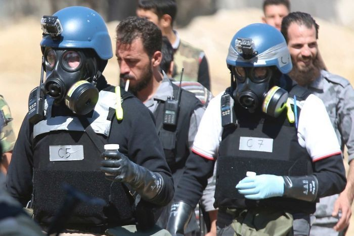 UN weapons inspectors in Damascus