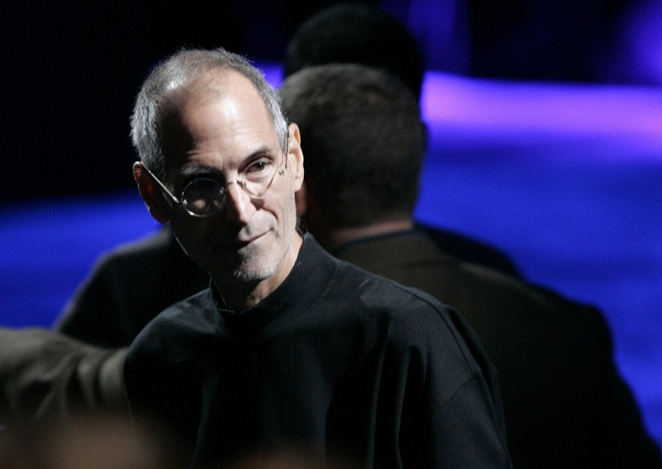 Upload complete: Steve Jobs appeared not to be scared when his moment arrived PIC: Reuters