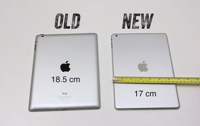 iPad 5 versus iPad 4