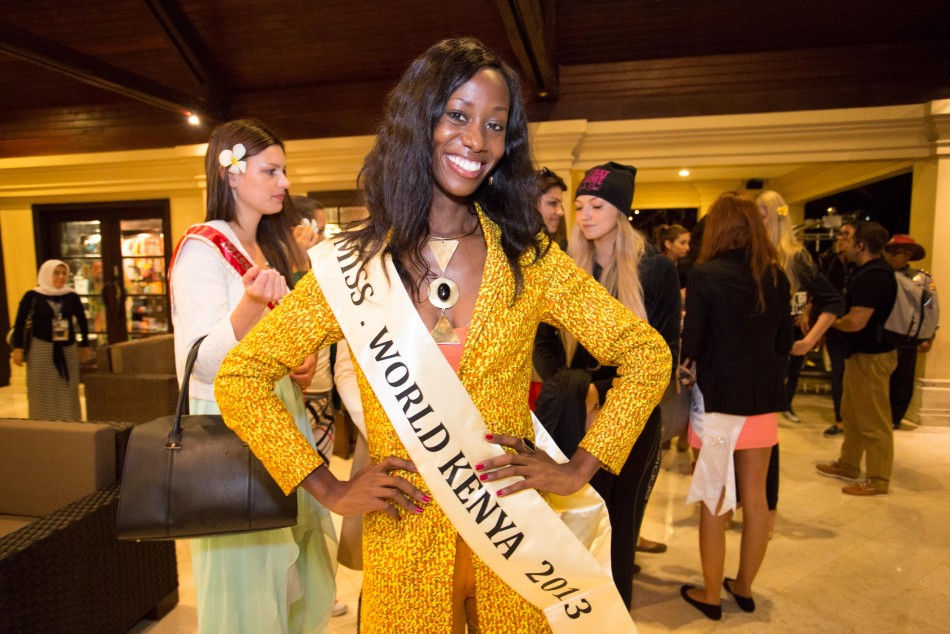Miss Kenya 2013, Wangui Gitonga, during reception party. (Photo: Miss World Indonesia 2013)