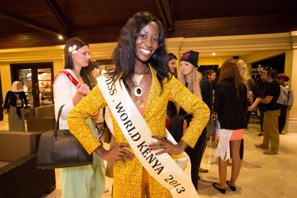 Miss Kenya 2013, Wangui Gitonga, during reception party. (Photo: Miss World Indonesia 2013)