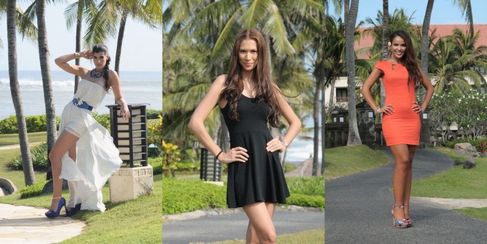 Miss World 2013 contestants pose at Pan Pacific Nirwana Bali Resort in Bali on 3 September, 2013. (Miss World Indonesia 2013)
