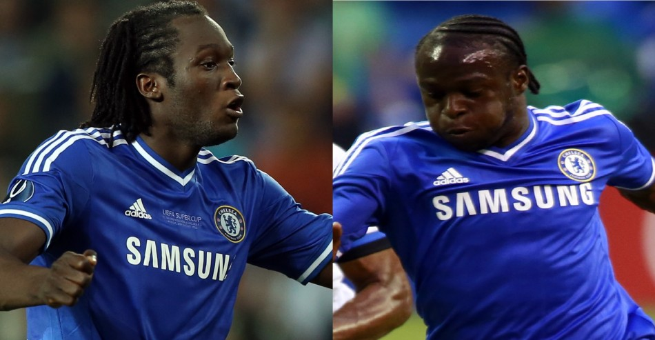 Romelu Lukaku and Victor Moses
