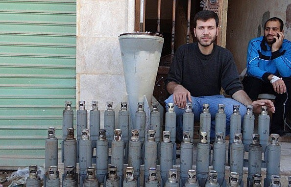 Cluster bombs, Syria