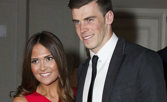 Gareth Bale with fiancee Emma