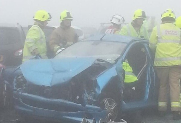 Visibility was said to be very poor at the time of the crash (Chris Buckingham)
