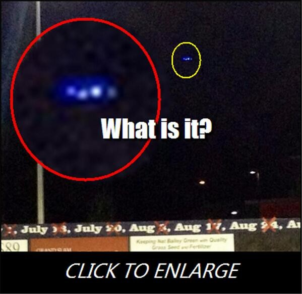 UFO Spotted During Canadian Baseball Game