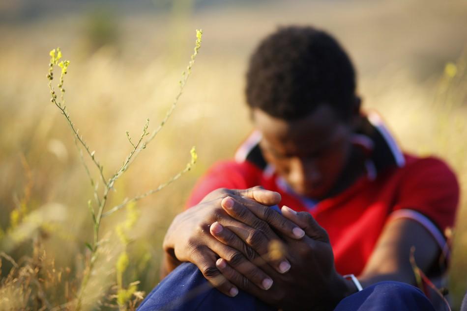 A migrant from Somalia