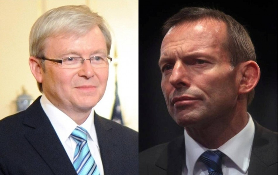 Kevin Rudd Versus Tony Abbott for Prime Minister of Australia