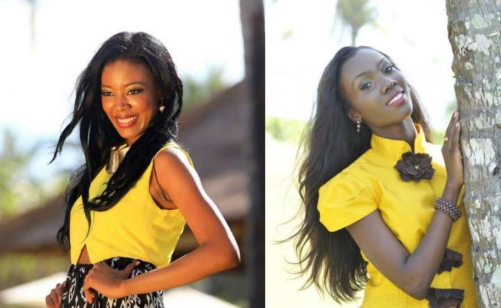 Miss World Belize 2013, Idolly Louise (L) and Miss World Guyana 2013, Ruqayyah Boyer (Photo: Miss World/Facebook)